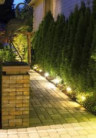 Path lighting creates a welcoming impression